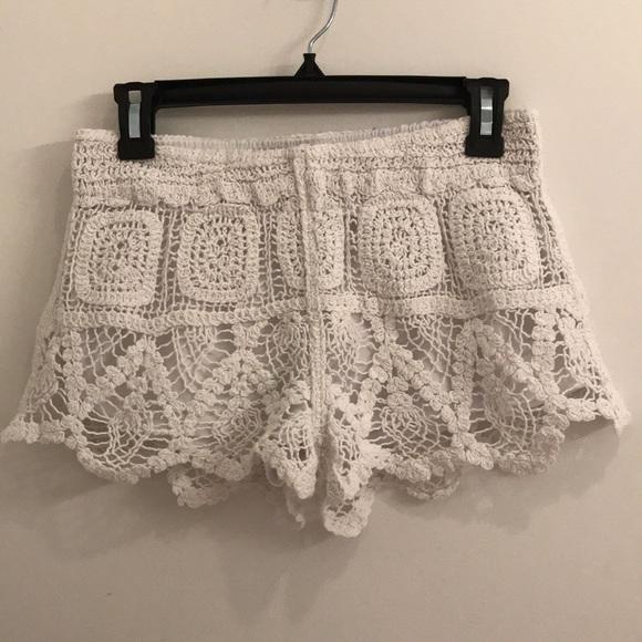 07ba99b2b3 Surf Gypsy Swim | White Crochet Shorts Size M | Poshmark